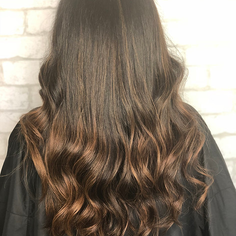Root retouch, partial highlight with red tones, haircut, blowdry and style.   Leilani Artistry Studio - Coral Springs, Florida   Broward County's best hair and makeup salon.