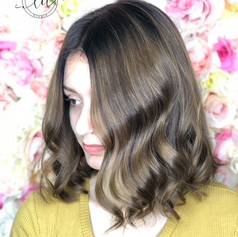 Root retouch, partial balayage, haircut, blowdry and style.    Leilani Artistry Studio - Coral Springs, Florida   Broward County's best hair and makeup salon.