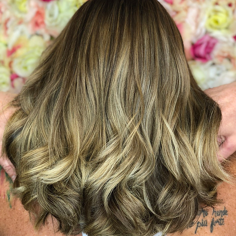 Partial highlight with root retouch, haircut, blowdry and style.    Leilani Artistry Studio - Coral Springs, Florida   Broward County's best hair and makeup salon.