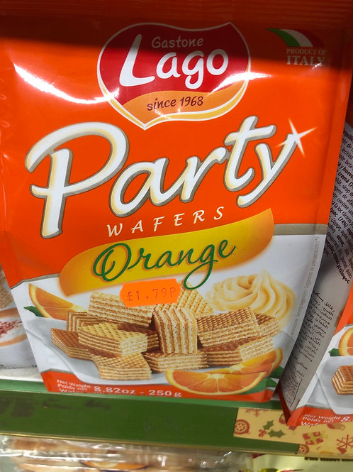 Orange wafers