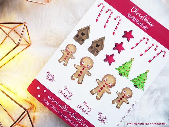 "Feuille de stickers ""Christmas"""