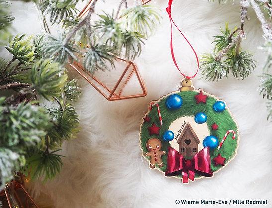 "Boule de Noël ""Christmas Wreath"""
