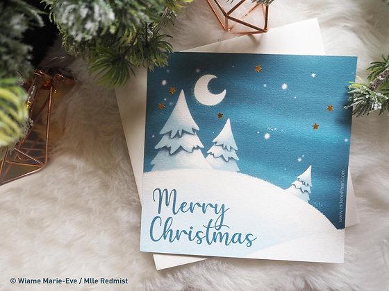 "Pack Cartes de Noël ""Merry Christmas"" + ""Kind"""