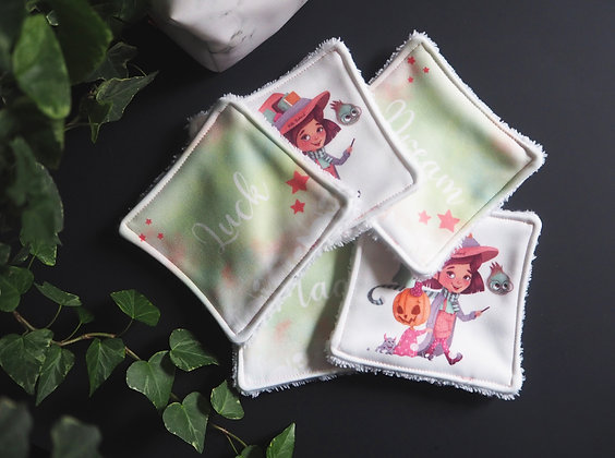 "Lingettes démaquillantes lavables - ""Luck, Dream & Magic"""