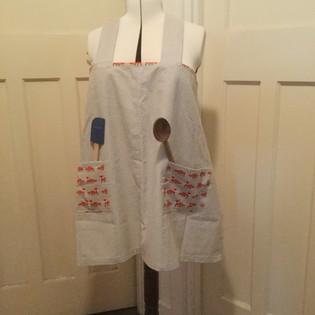 Spotty artists' apron
