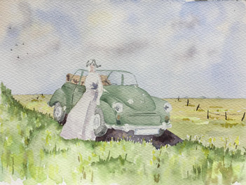 Girl and her Morris