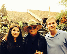 At the Romero home with Celin Romero and James Hunley