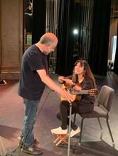 Pre-concert soundcheck with Sammy