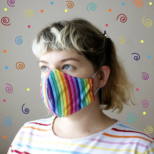 Rainbow Stripe Mask