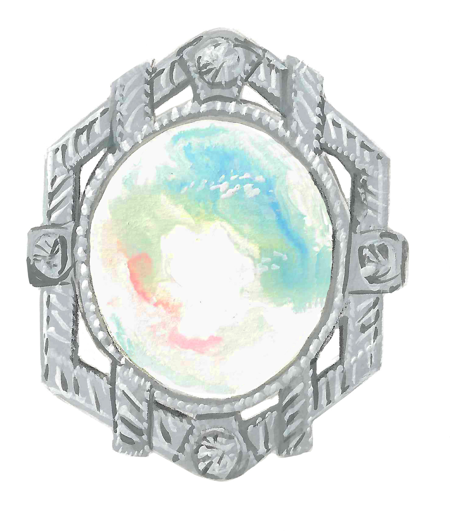 Statement Opal Ring