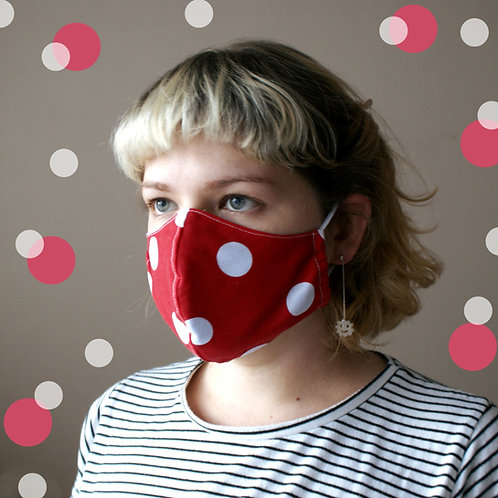 Red Polkadot Mask