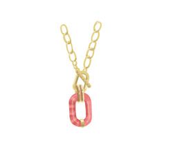 Pink Link Necklace