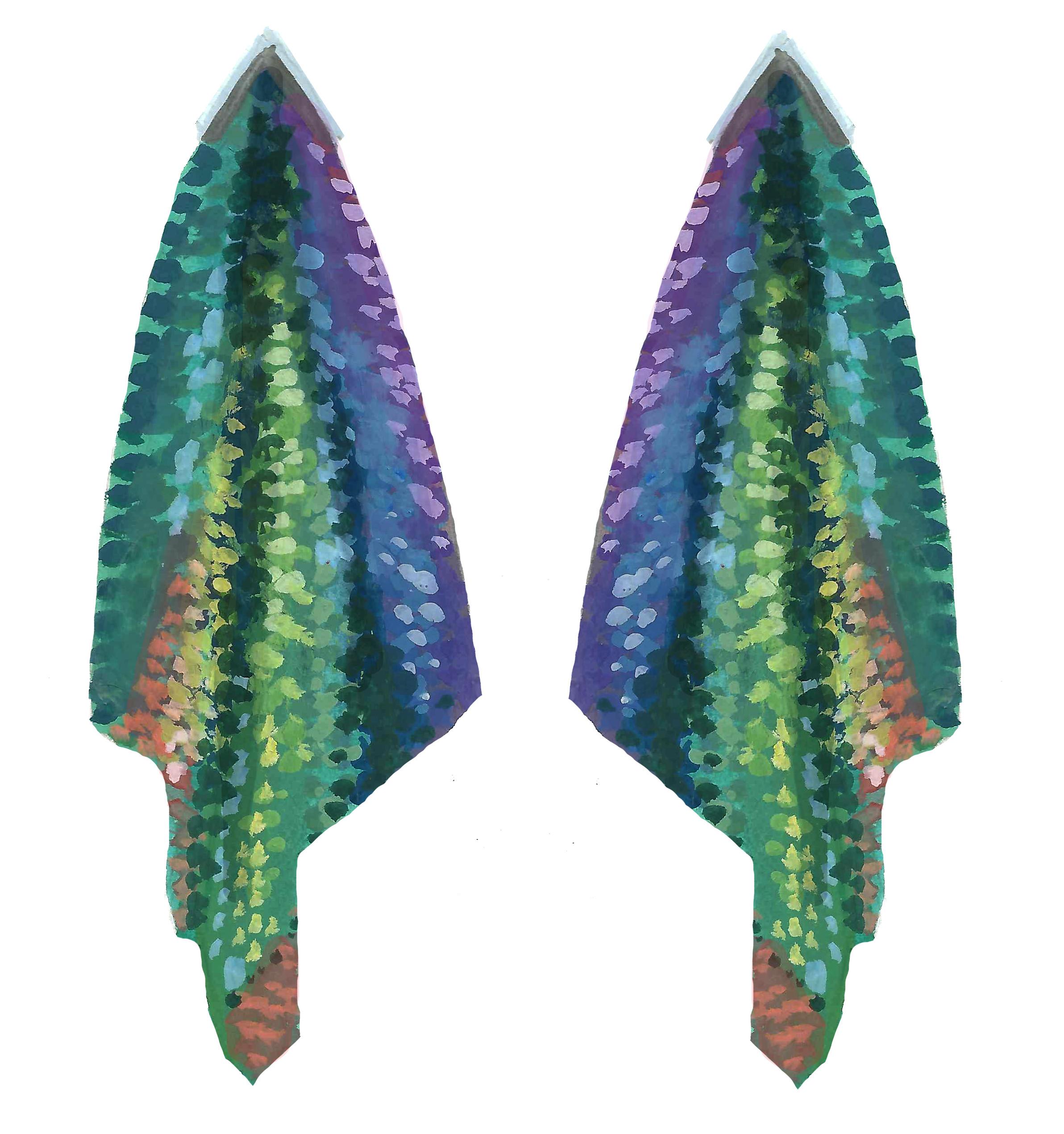 Peacock Shimmer Earrings