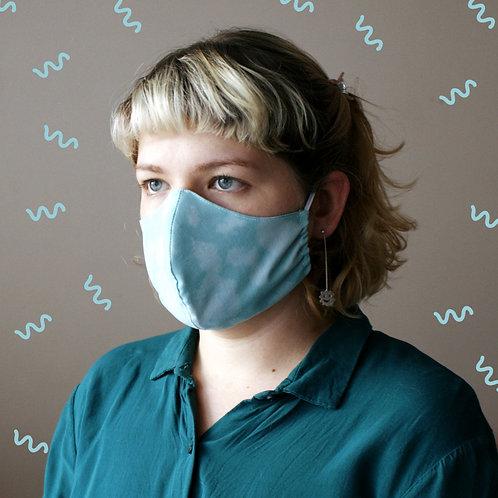 Teal Tie Dye Mask