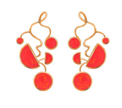 Surreal Coral Earrings
