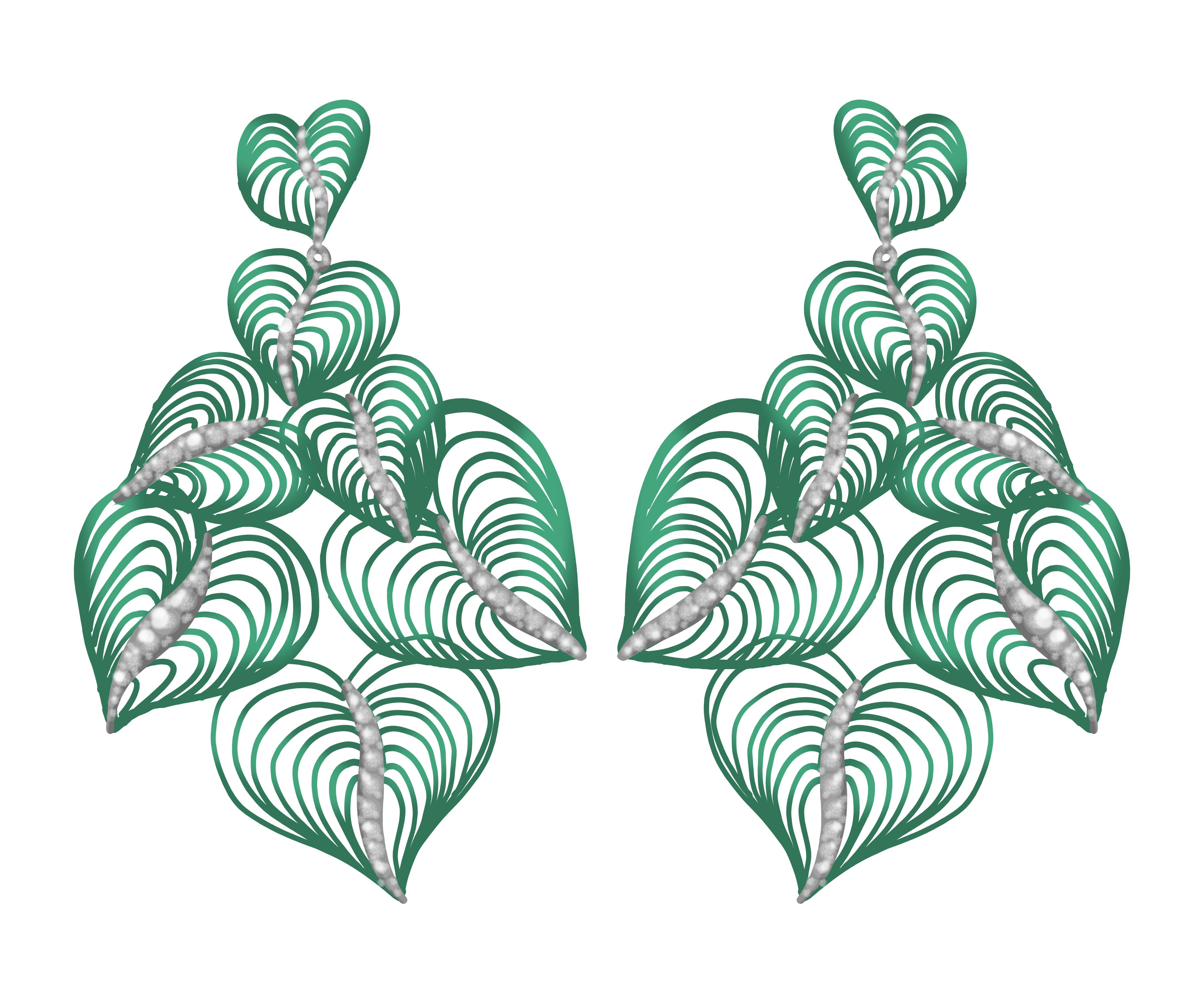 Neon Leaf Earrings
