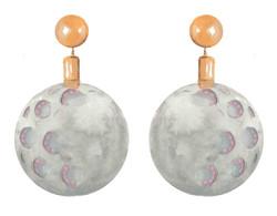 Moon Crater Earrings
