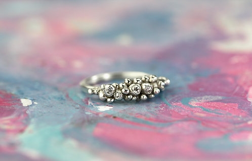 Bubbling Silver Ring