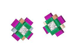 Mini Mosaic Studs