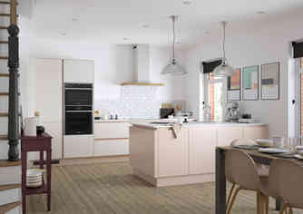Cosdon kitchen Porcelain & Dusky Pink