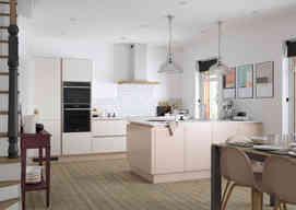 Cosdon kitchen Porcelain & Dusky Pink