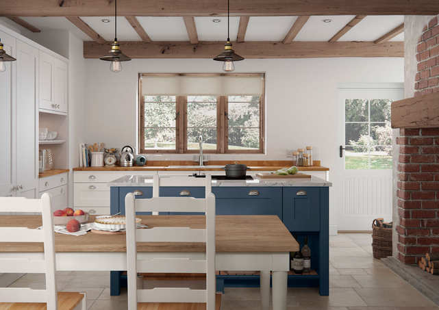 Hartside kitchen Dark Blue Island