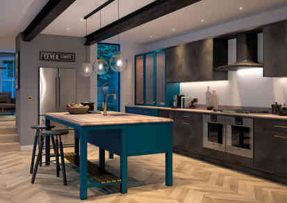 Cosdon kitchen Paradise Blue and Black S
