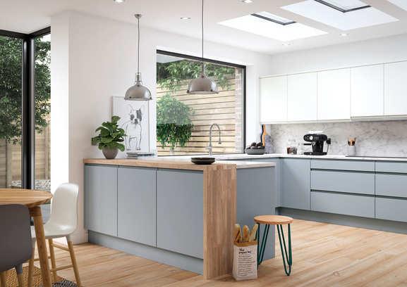 Aconbury kitchen Luna and Porcelain