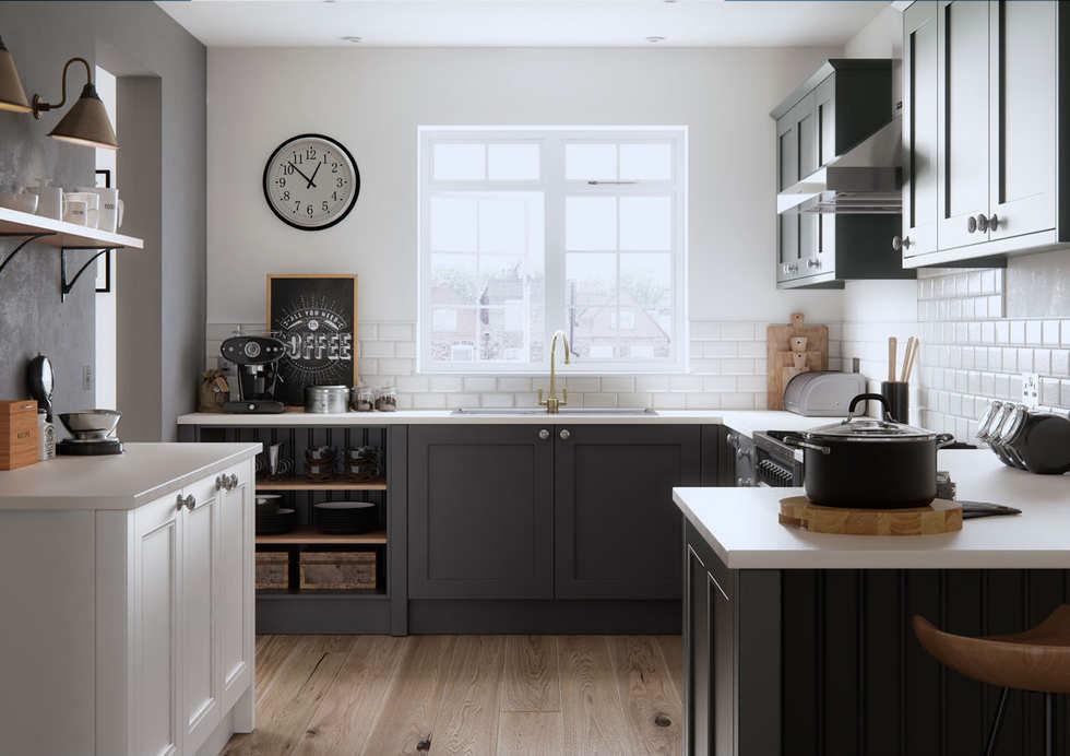 Faringdon Beaded Kitchen in porcelain an