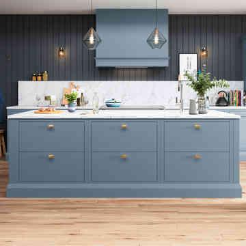 Baystone kitchen slab drawer fronts