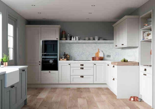 Allestree kitchen Luna and Light Grey