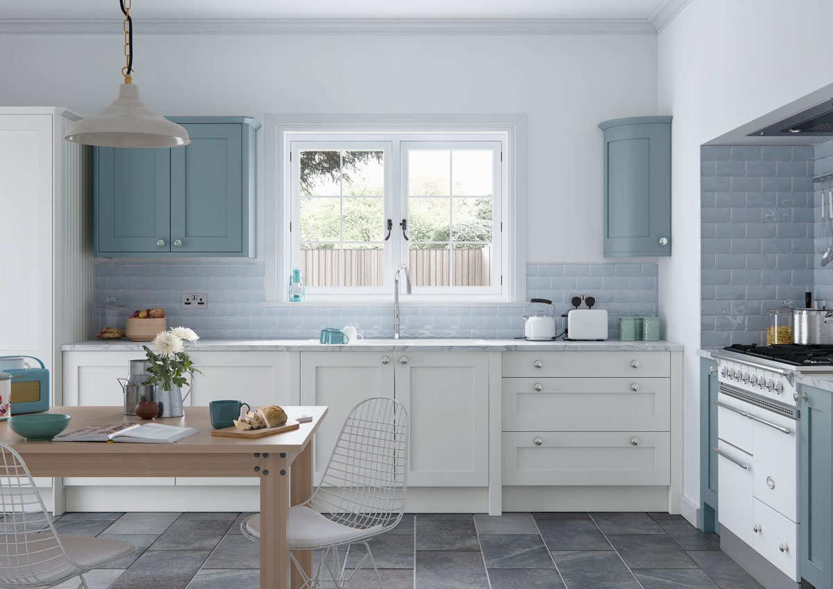 Faringdon Shaker Kitchen in  Porcelain a