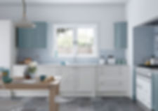 Faringdon Shaker Kitchen in  Porcelain a