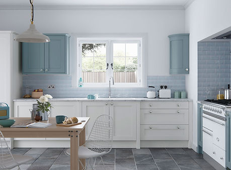 Faringdon Shaker kitchen Porcelain