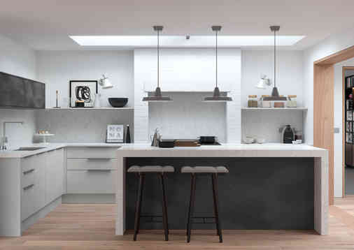 Cosdon kitchen matt finish light grey an