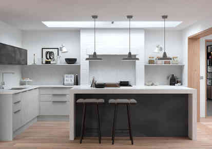 Cosdon kitchen matt finish light grey an