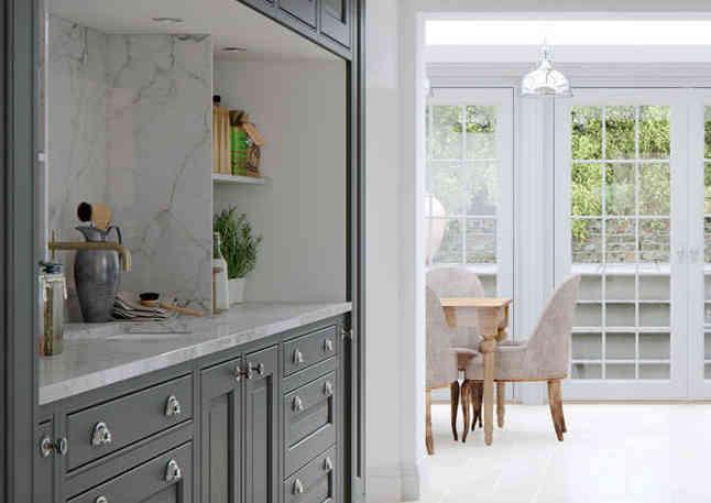 Eildon kitchen light Grey and Slate Grey