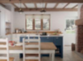 Hartside kitchen Dark Blue Island