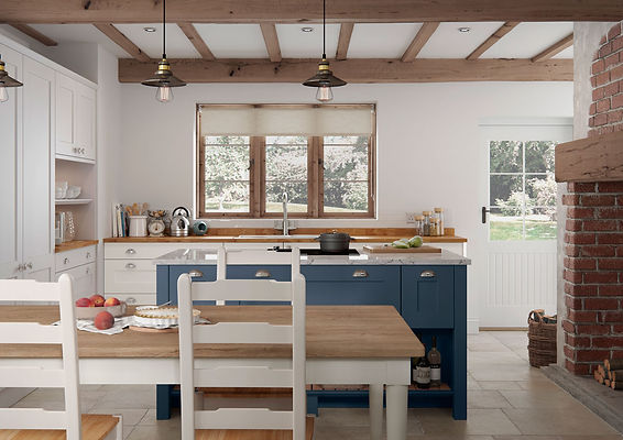 Hartside kitchen with an island