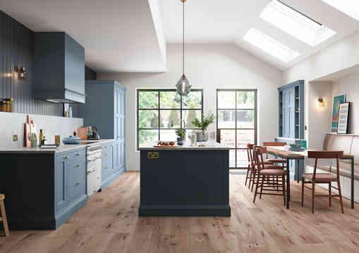 Baystone kitchen with island