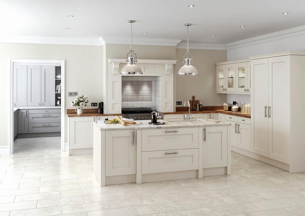 Shaker Style Kitchen BAckground Image