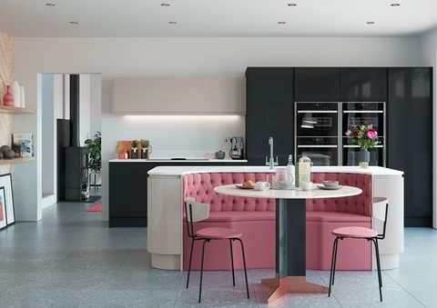 Welford kitchen Graphite and Savanna