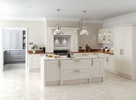 Rivington kitchen in cream