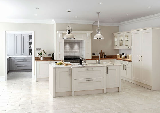 Rivington kitchen with an island