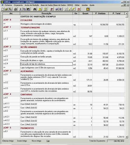 Atribuir margens no orçamento