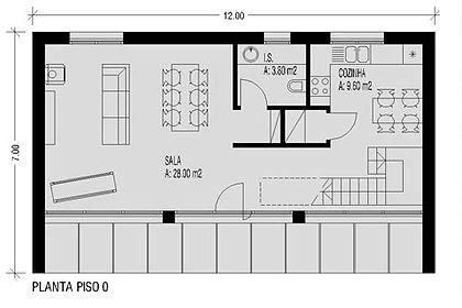 casa modular T1 de qualidade em aço leve