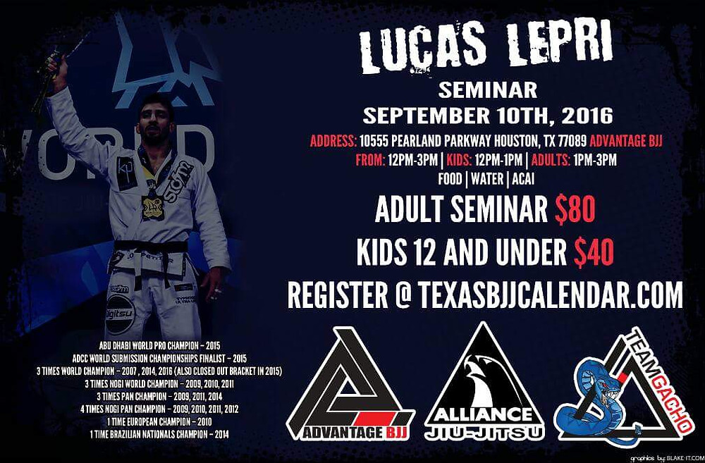 Even world champions like Lucas Lepri still list out their major accomplishments.