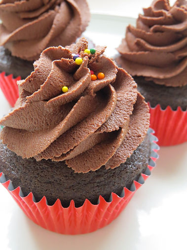 Peanut Butter-Filled Chocolate Cupcakes_
