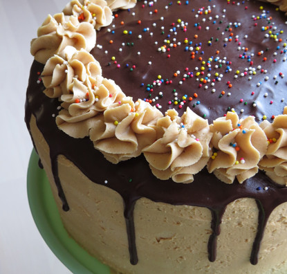 Chocolate Peanut Butter Deluxe Cake