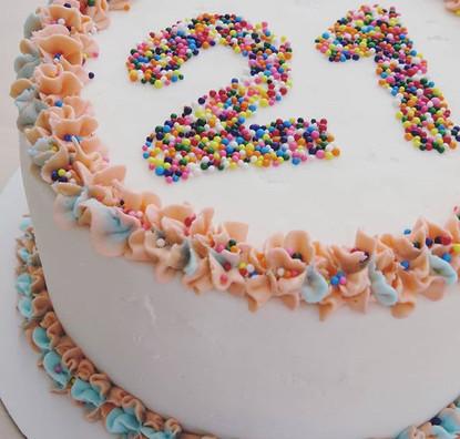 21st Birthay Cake